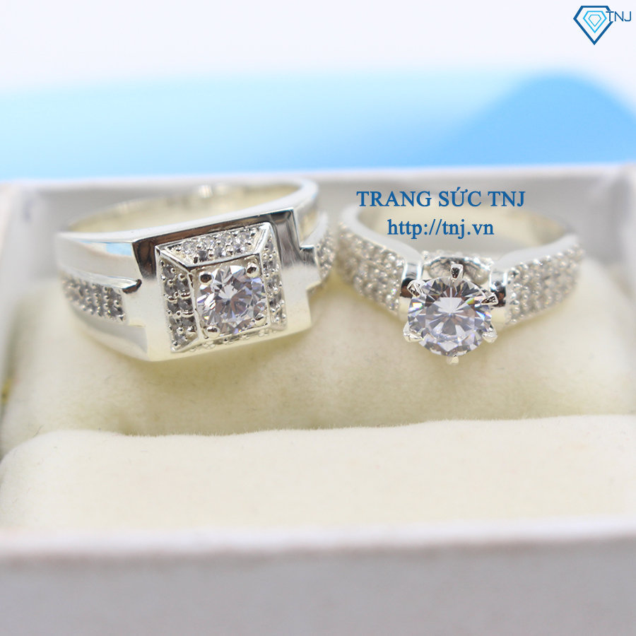 Nhẫn đôi bạc nhẫn cặp bạc đẹp ND0242