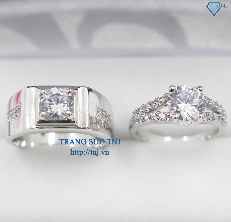 Nhẫn đôi bạc nhẫn cặp bạc đẹp ND0246