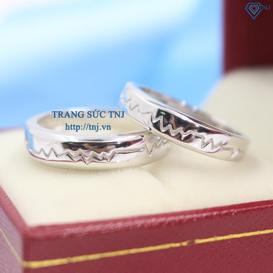 Nhẫn đôi bạc nhẫn cặp bạc đẹp nhịp đập trái tim ND0251