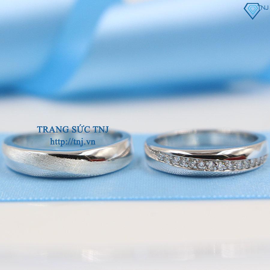 Nhẫn đôi bạc nhẫn cặp bạc đẹp ND0252