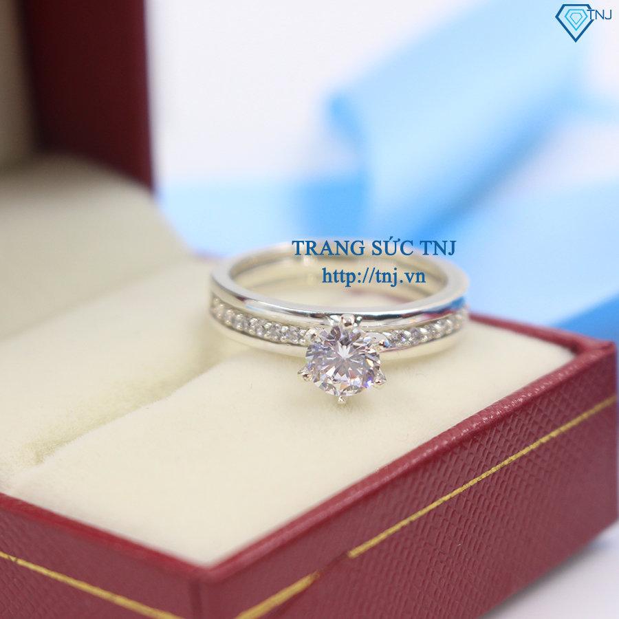 nhẫn đôi bạc nhẫn cặp bạc đẹp 2 trong 1 ND0254