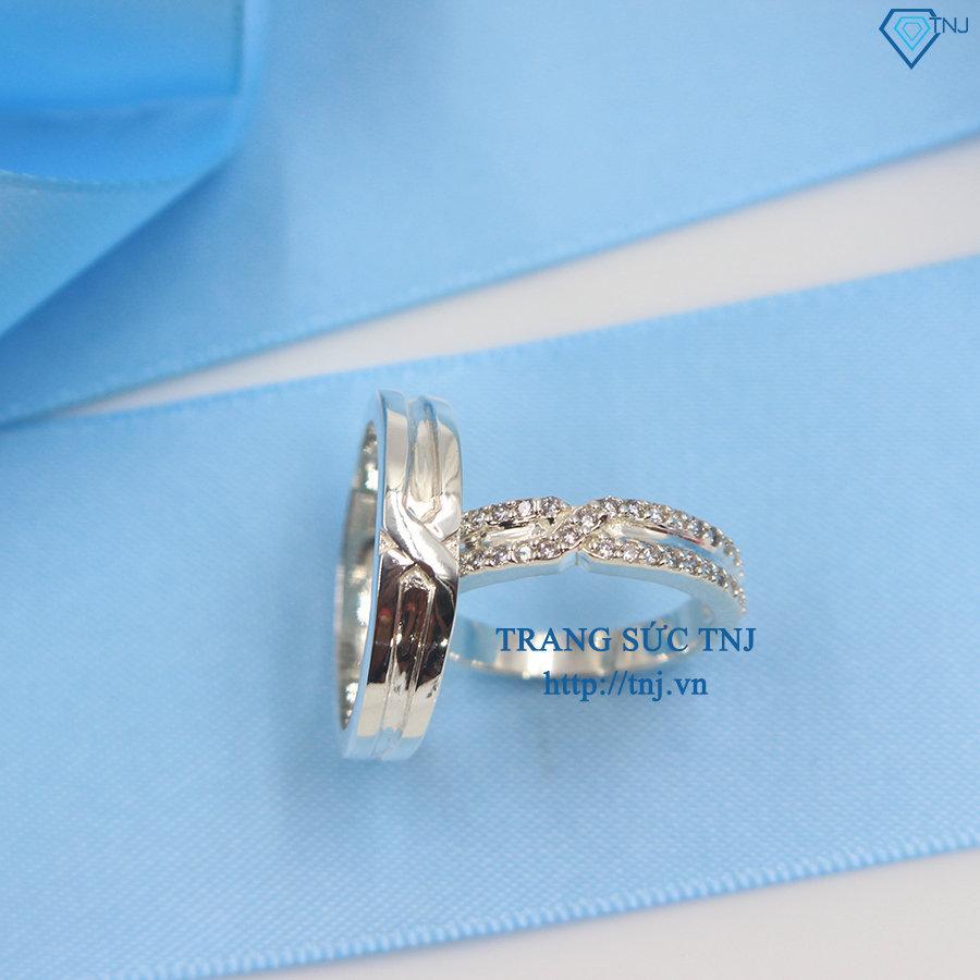 Nhẫn đôi bạc nhẫn cặp bạc đẹp ND0255