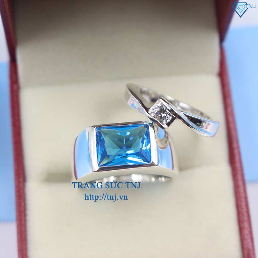 Nhẫn đôi bạc nhẫn cặp bạc đẹp ND0256