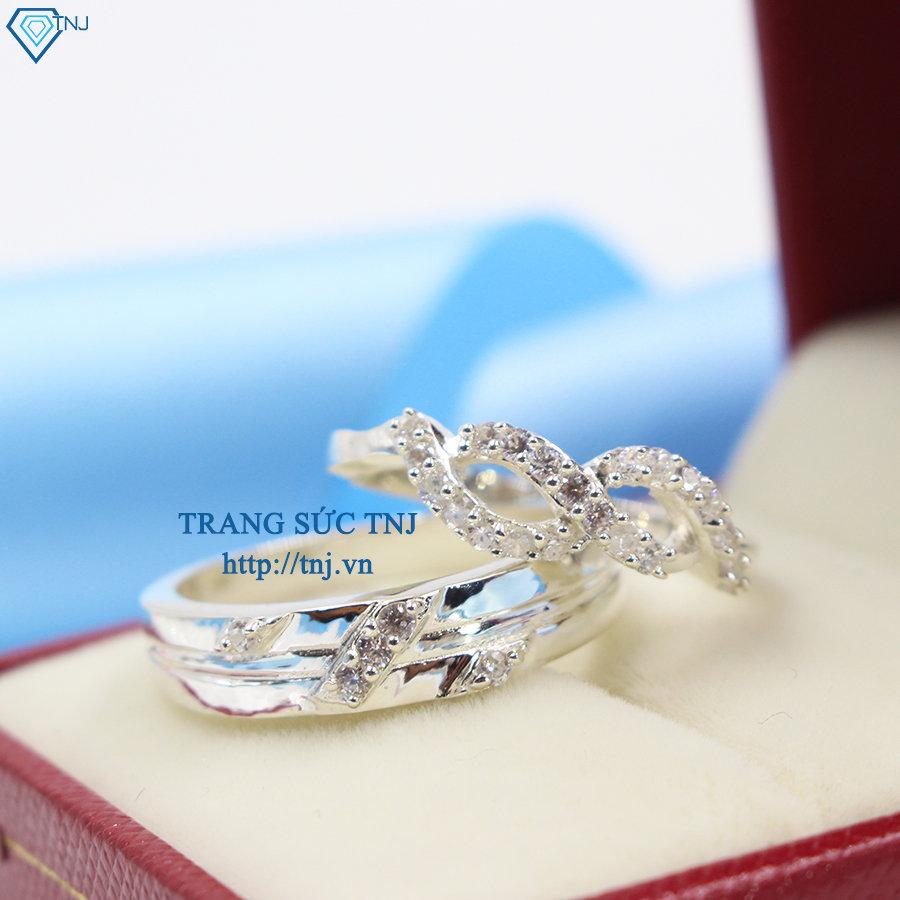 Nhẫn đôi bạc nhẫn cặp bạc đẹp ND0259