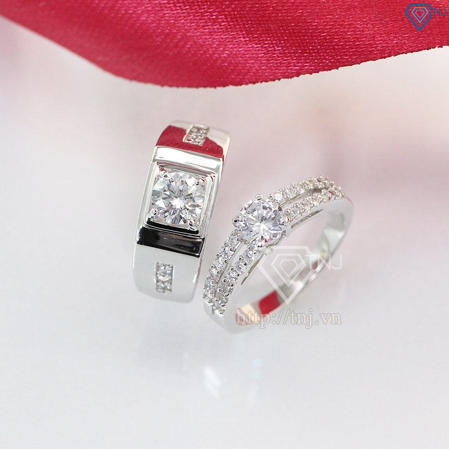 Nhẫn đôi bạc nhẫn cặp bạc đẹp ND0261