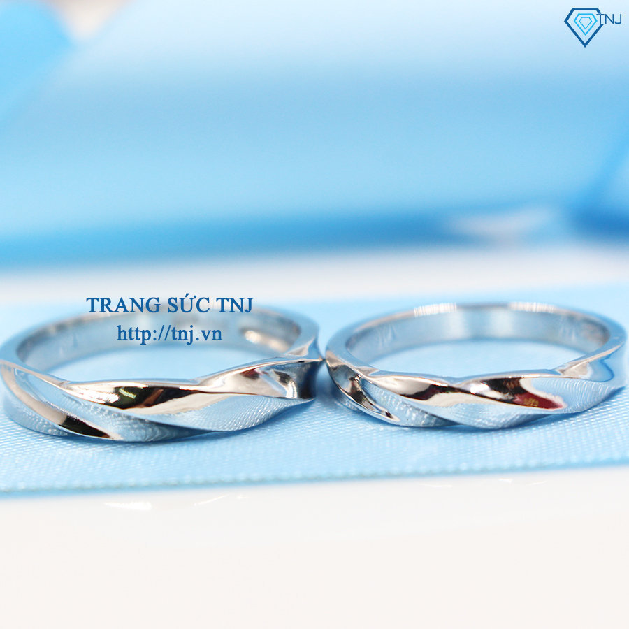 Nhẫn đôi bạc nhẫn cặp bạc đẹp ND0262
