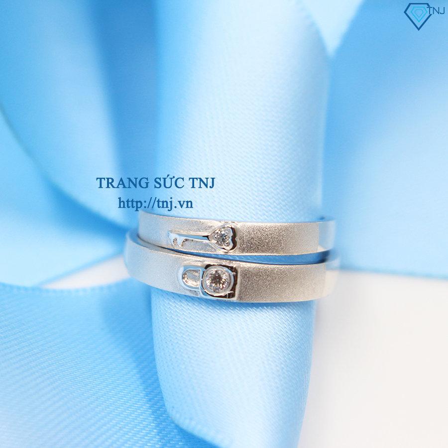 Nhẫn đôi bạc nhẫn cặp bạc đẹp ND0264
