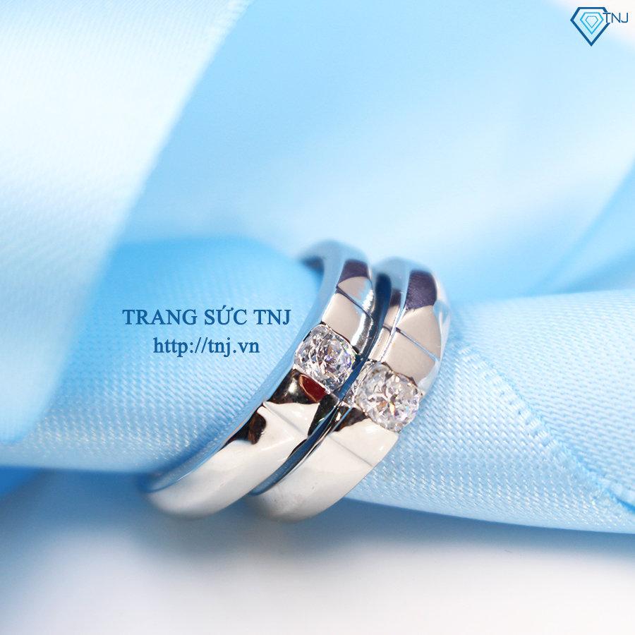 Nhẫn đôi bạc nhẫn cặp bạc đẹp ND0266