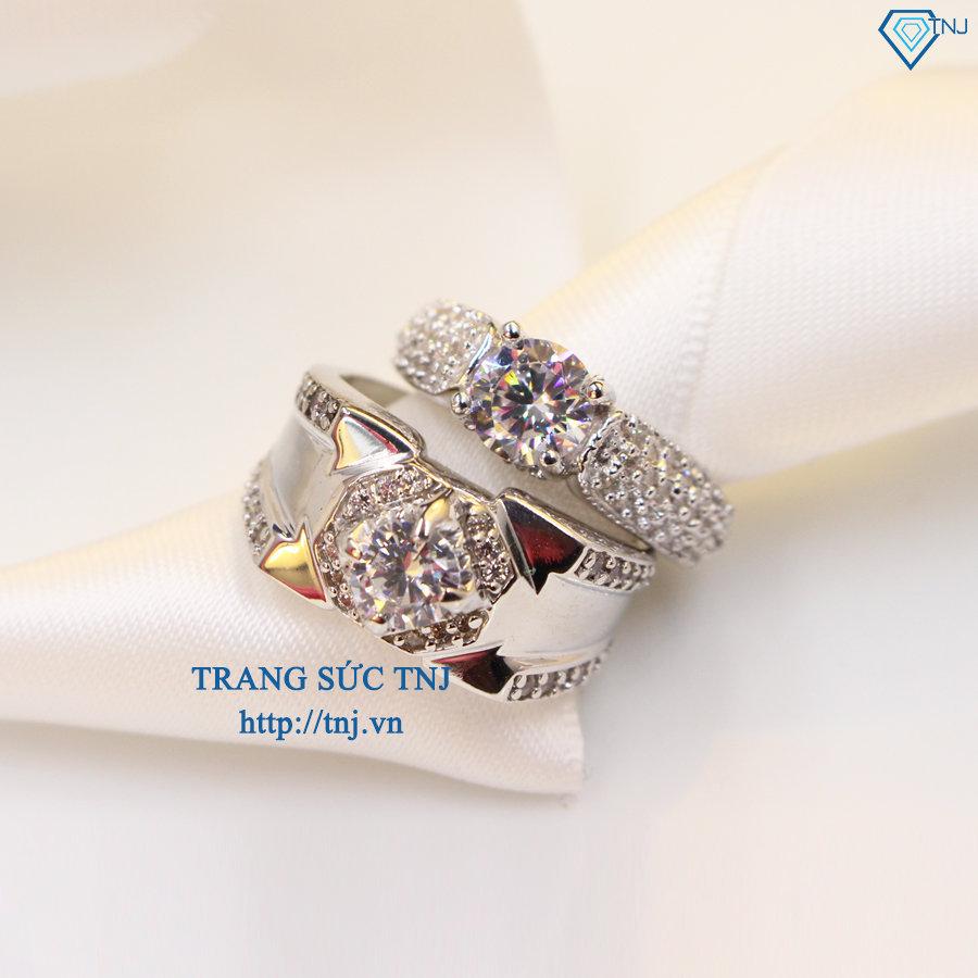 Nhẫn đôi bạc nhẫn cặp bạc đẹp ND0267