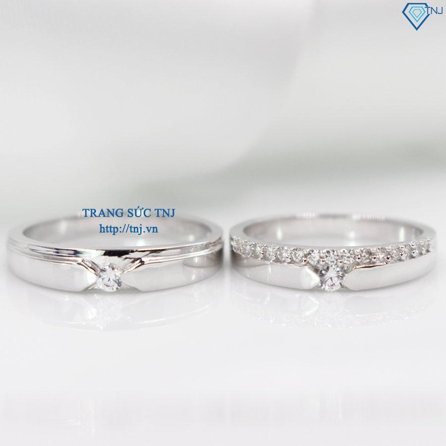 Nhẫn đôi bạc nhẫn cặp bạc đẹp ND0270