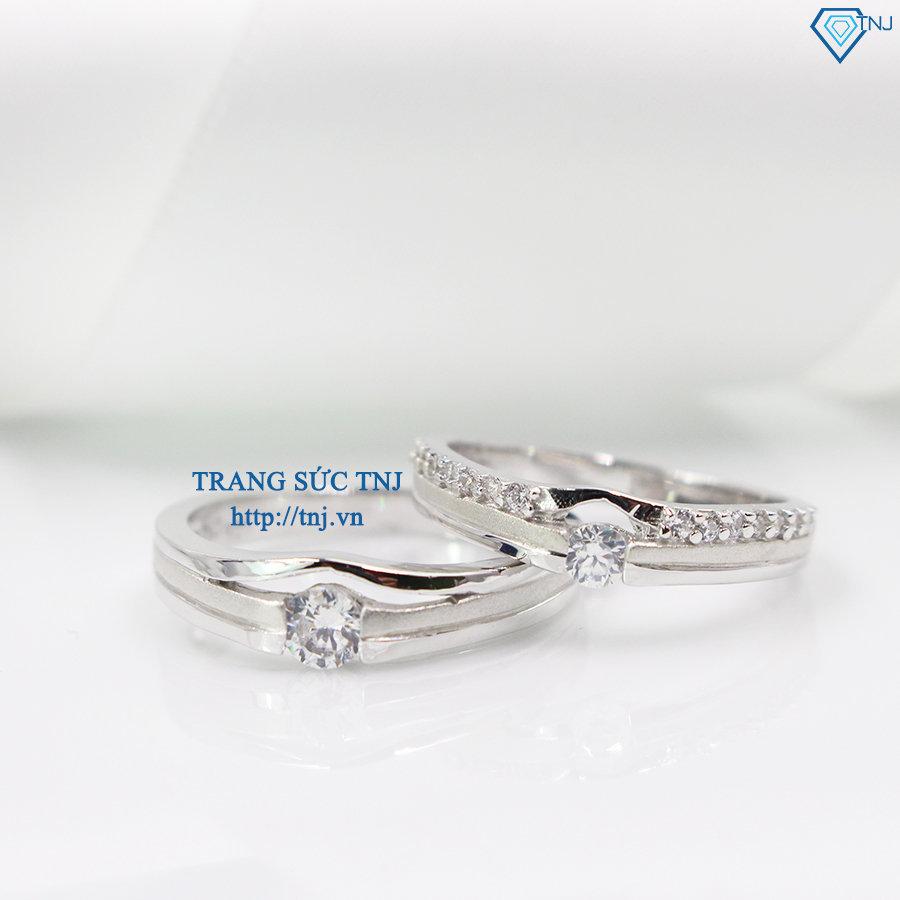 Nhẫn đôi bạc nhẫn cặp bạc đẹp ND0273