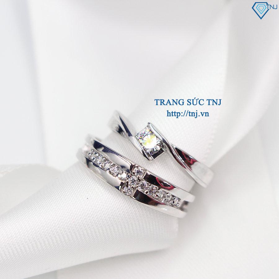 Nhẫn đôi bạc nhẫn cặp bạc đẹp ND0277