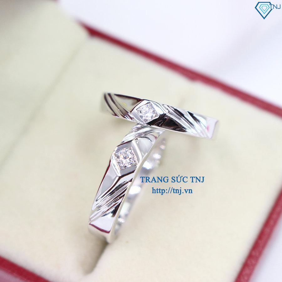 nhẫn đôi bạc nhẫn cặp bạc đẹp ND0283