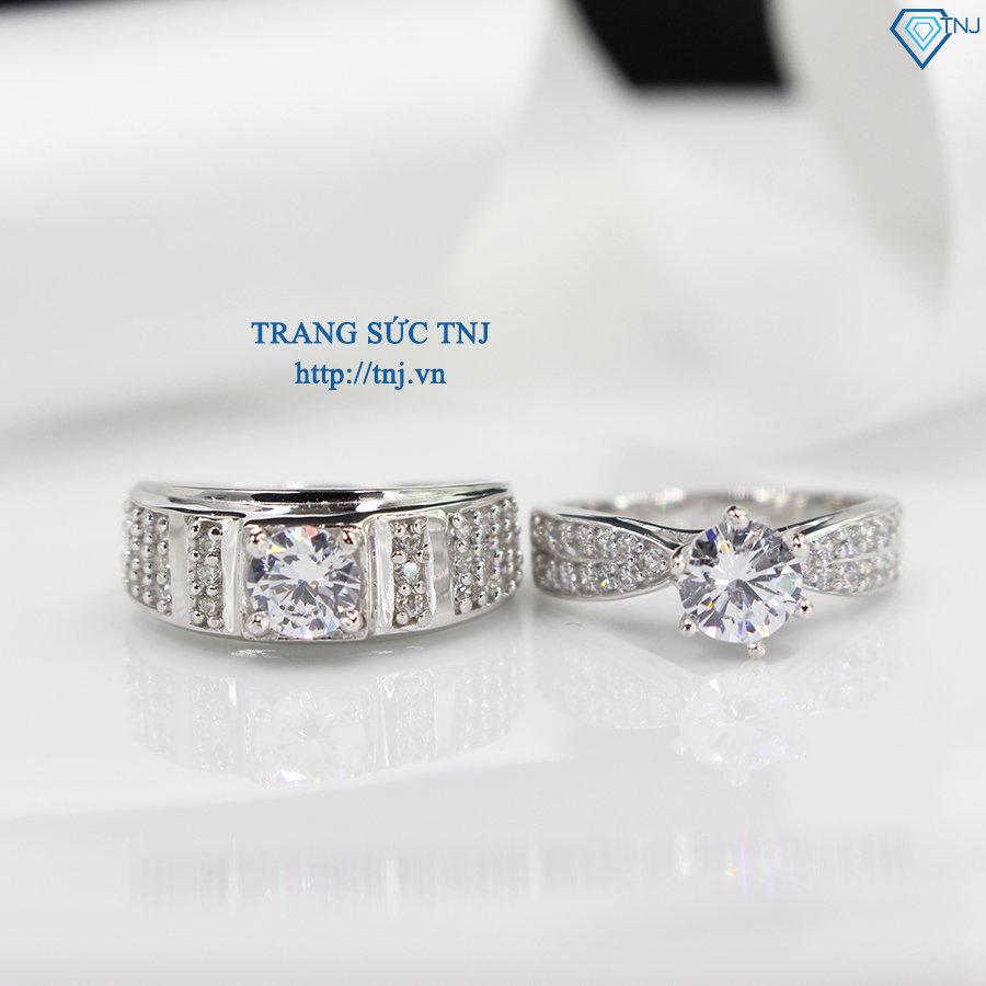 nhẫn đôi bạc nhẫn cặp bạc đẹp ND0284