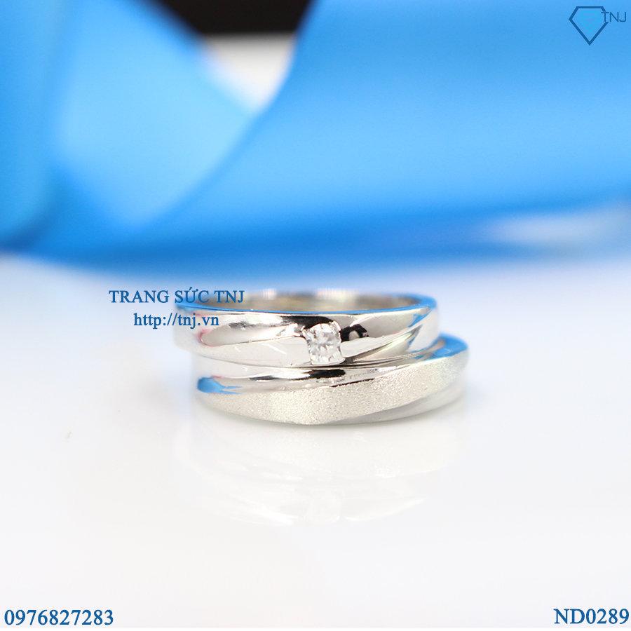 nhẫn đôi bạc nhẫn cặp bạc đẹp ND0289