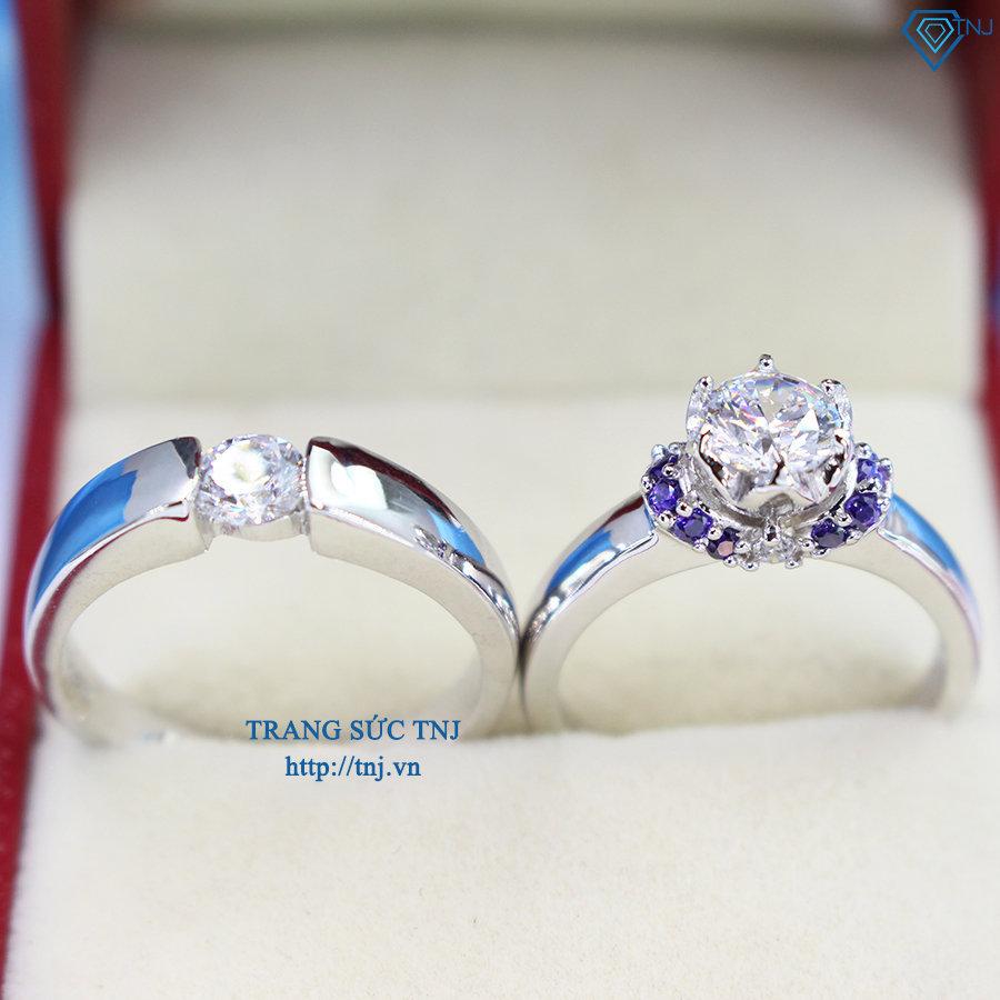 Nhẫn đôi bạc nhẫn cặp bạc đẹp ND0294