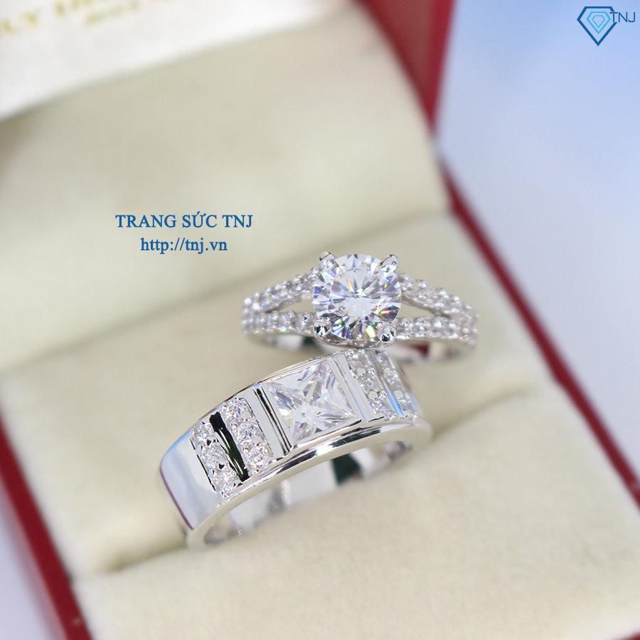 Nhẫn đôi bạc nhẫn cặp bạc đẹp ND0296