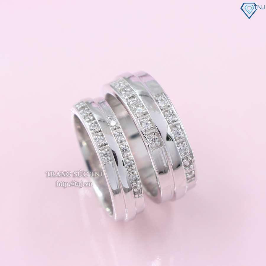 nhẫn đôi bạc nhẫn cặp bạc đẹp nd0315