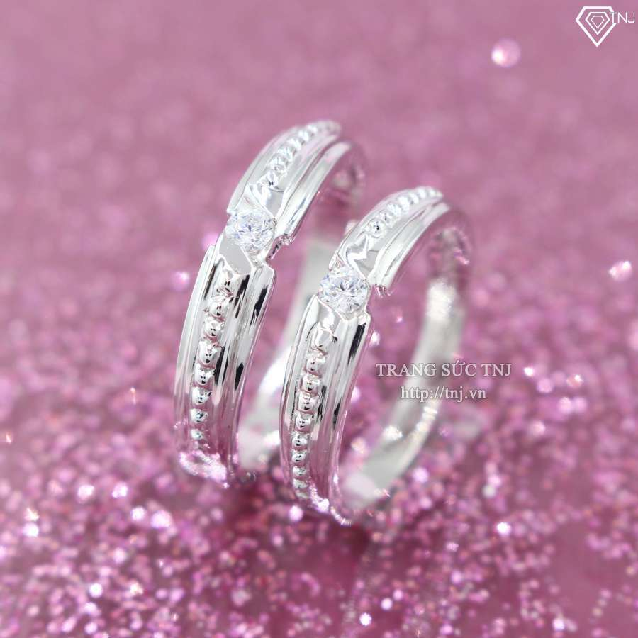 nhẫn đôi bạc nhẫn cặp bạc đẹp nd0317