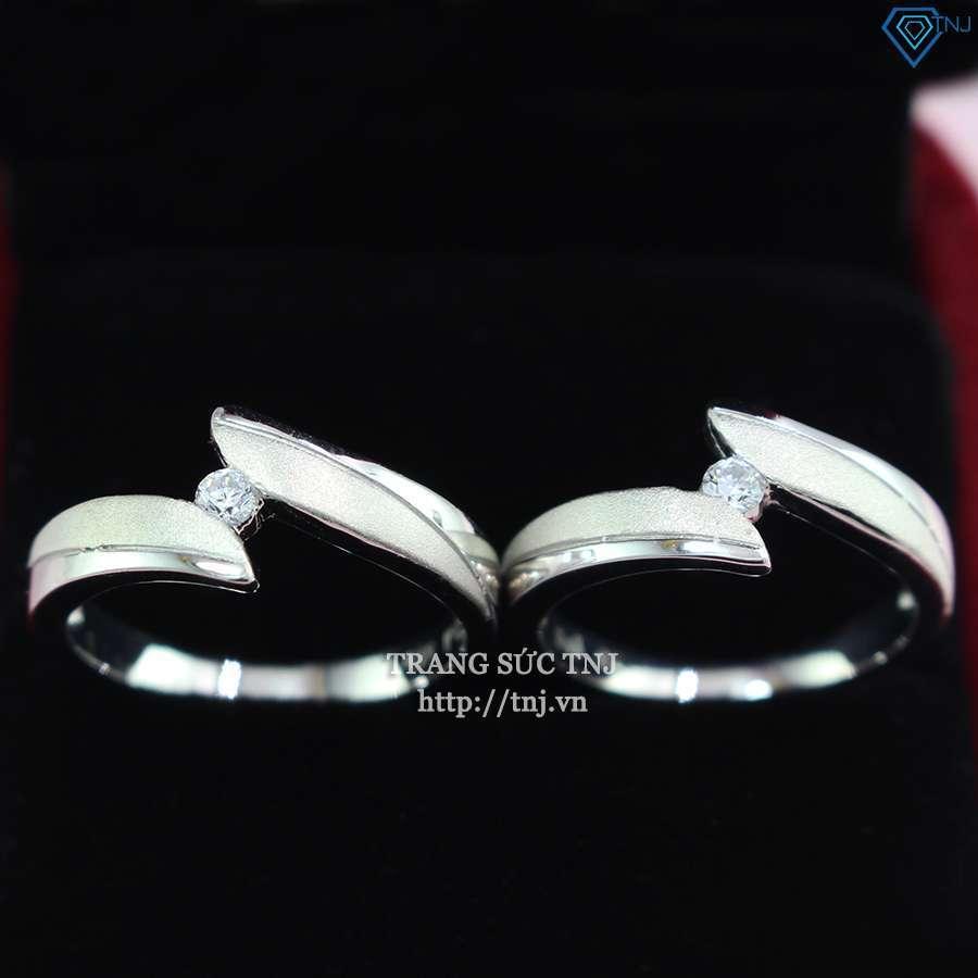 nhẫn đôi bạc nhẫn cặp bạc đẹp đơn giản ND0320