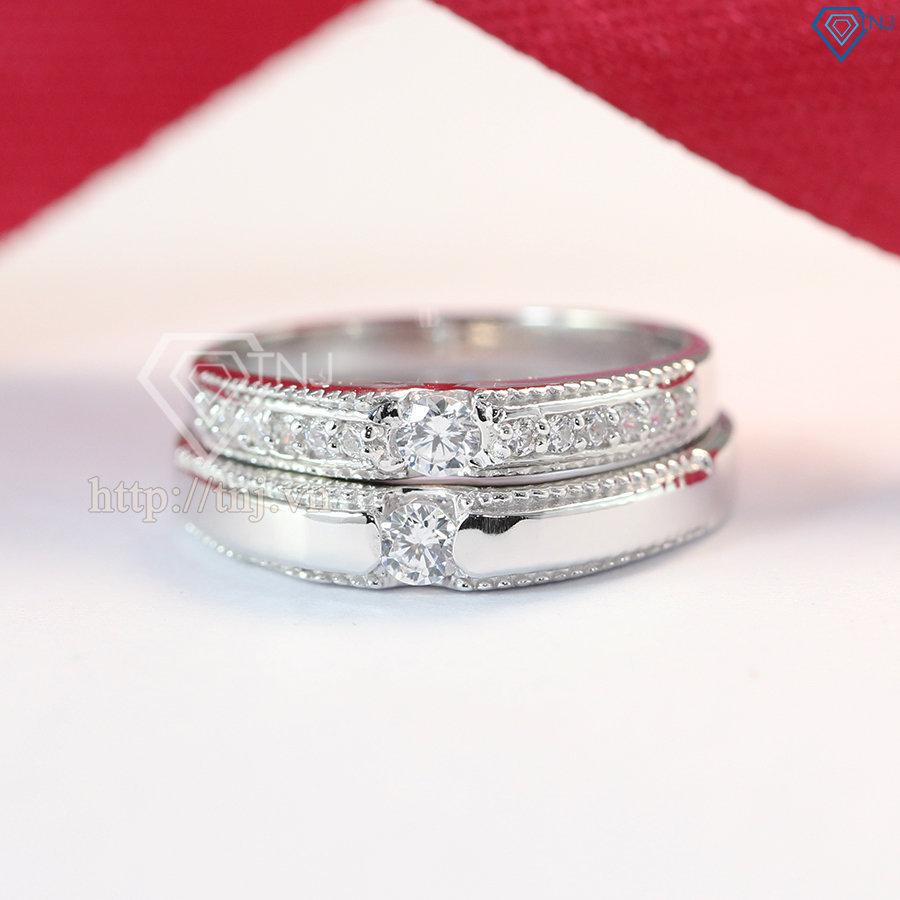 nhẫn đôi bạc nhẫn cặp bạc đẹp ND0370