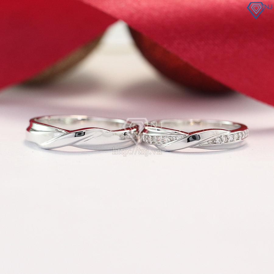 nhẫn đôi bạc nhẫn cặp bạc đẹp ND0377
