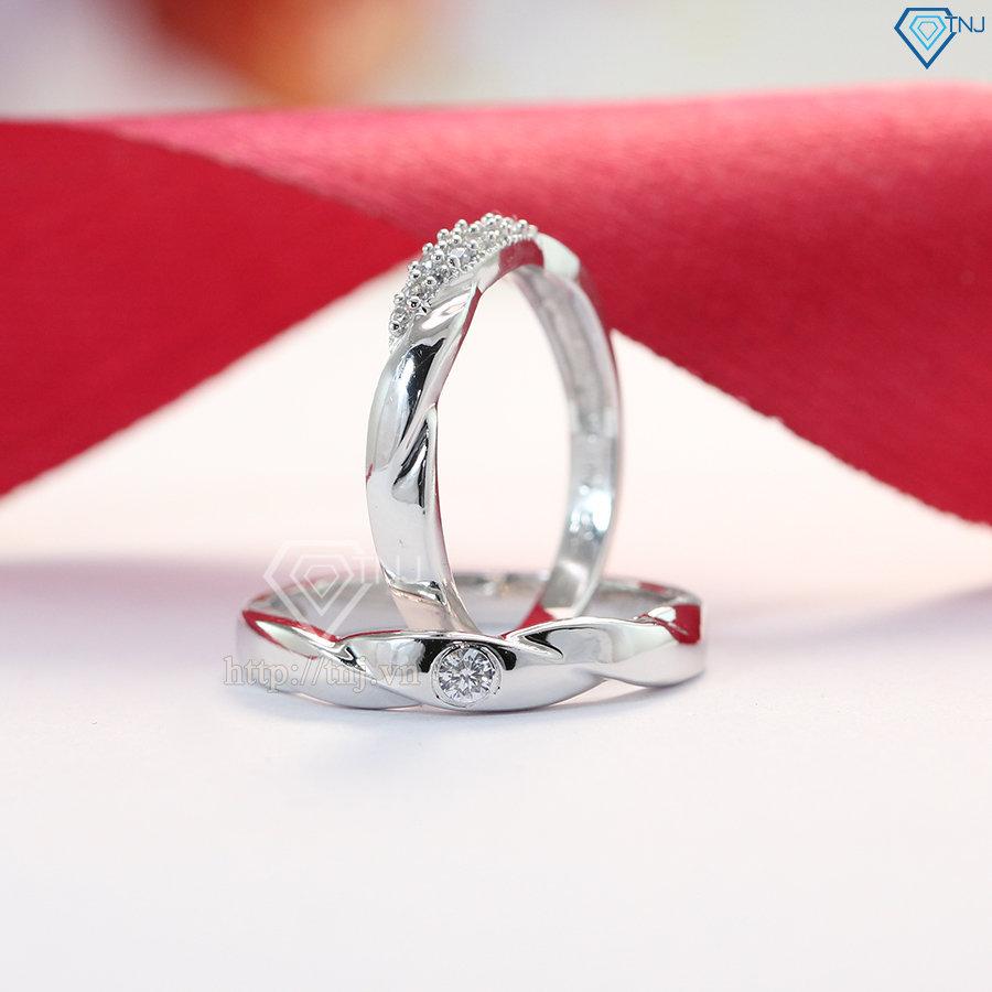 nhẫn đôi bạc nhẫn cặp bạc đẹp ND0381