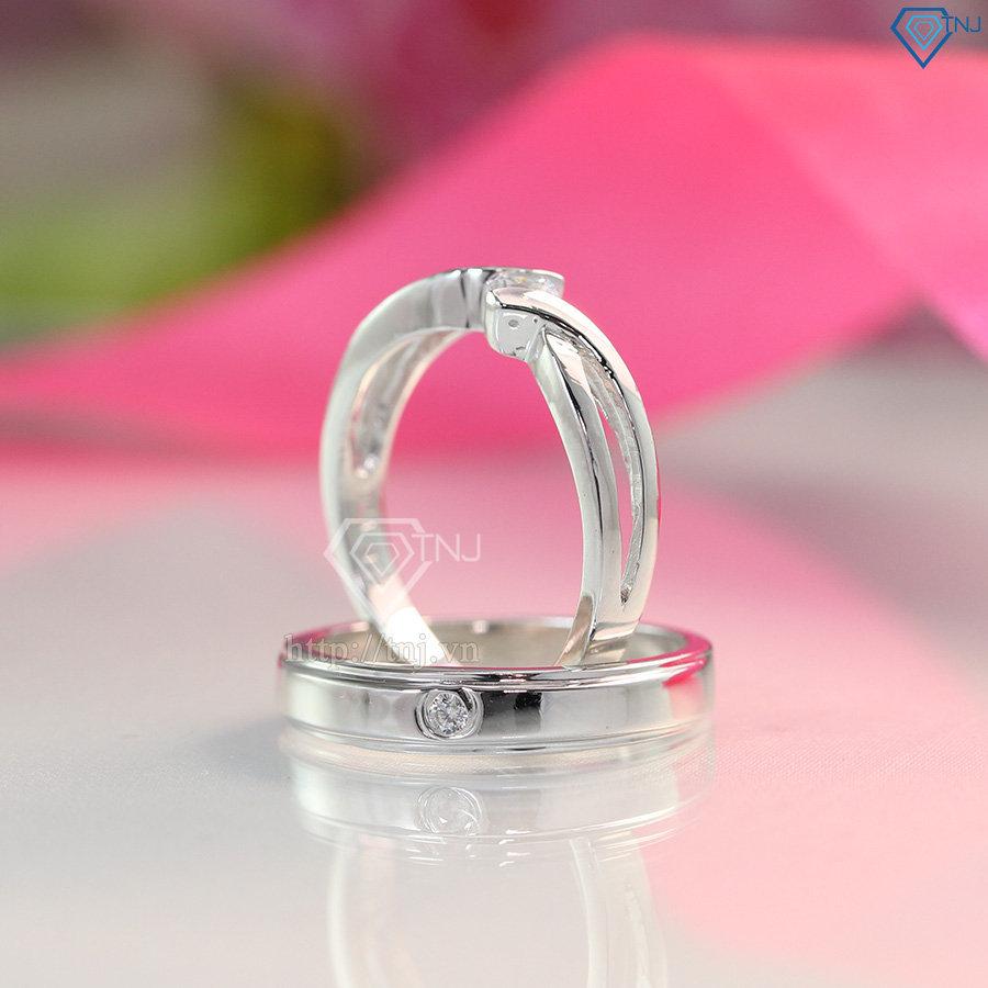 nhẫn đôi bạc nhẫn cặp bạc đẹp ND0382