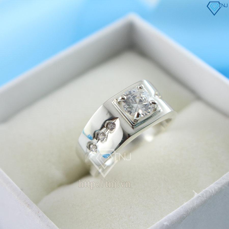 Nhẫn bạc nam 925 đơn giản NNA0049