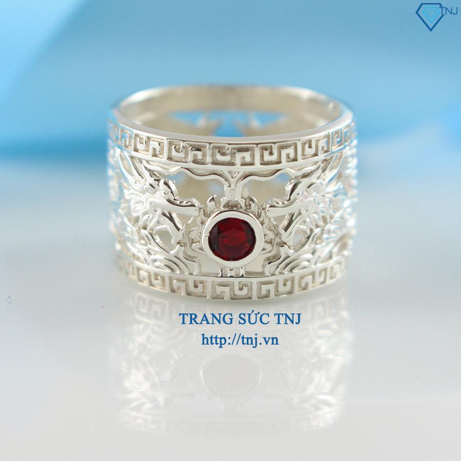 Nhẫn bạc nam đeo ngón cái hình rồng NNA0054