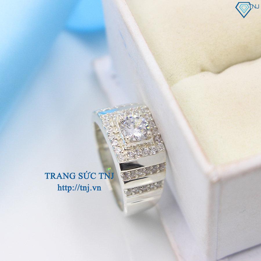 Nhẫn bạc nam xi bạch kim NNA0057