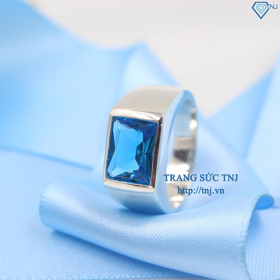Nhẫn bạc nam mặt đá xanh dương NNA0065