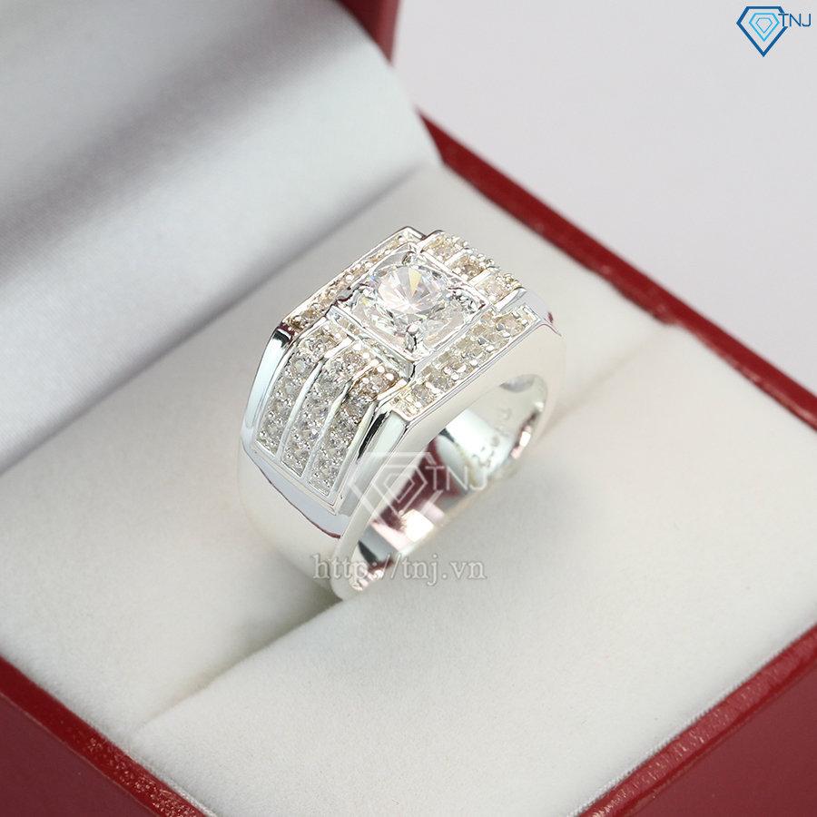 Nhẫn nam bạc đẹp đính đá sang trọng NNA0066