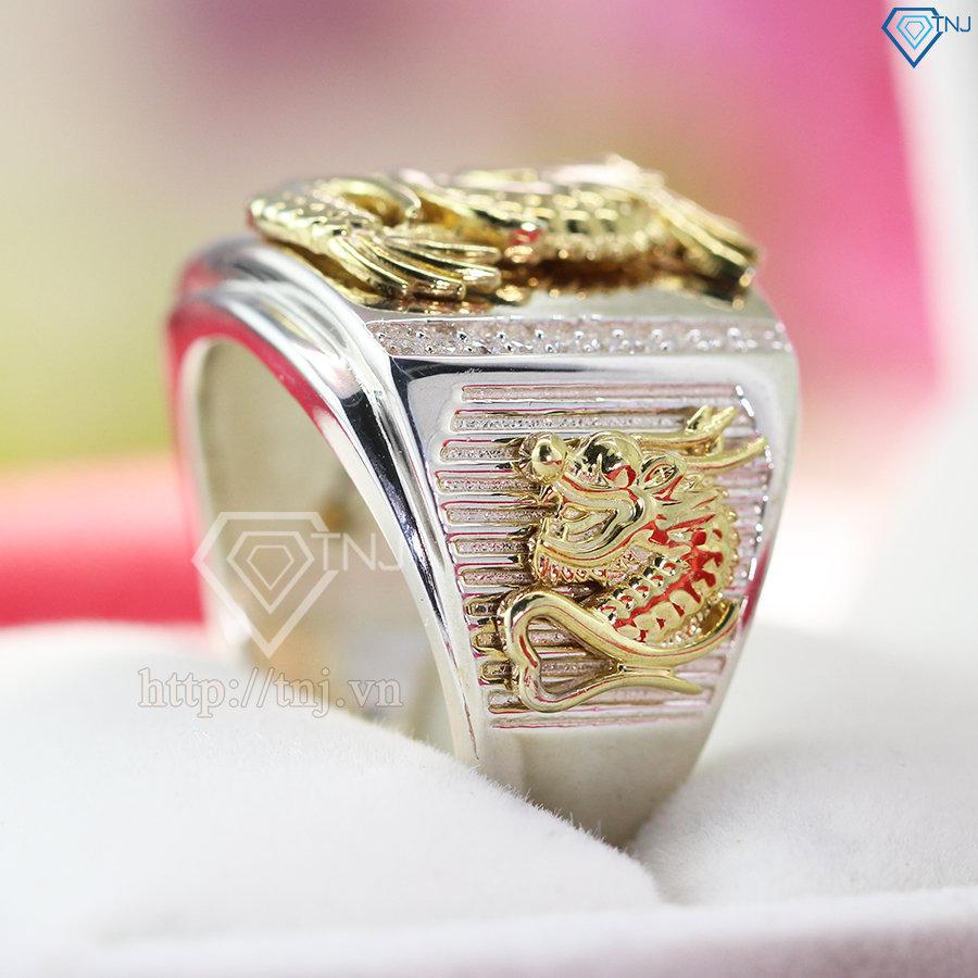 Nhẫn bạc nam hình rồng đẹp NNA0089