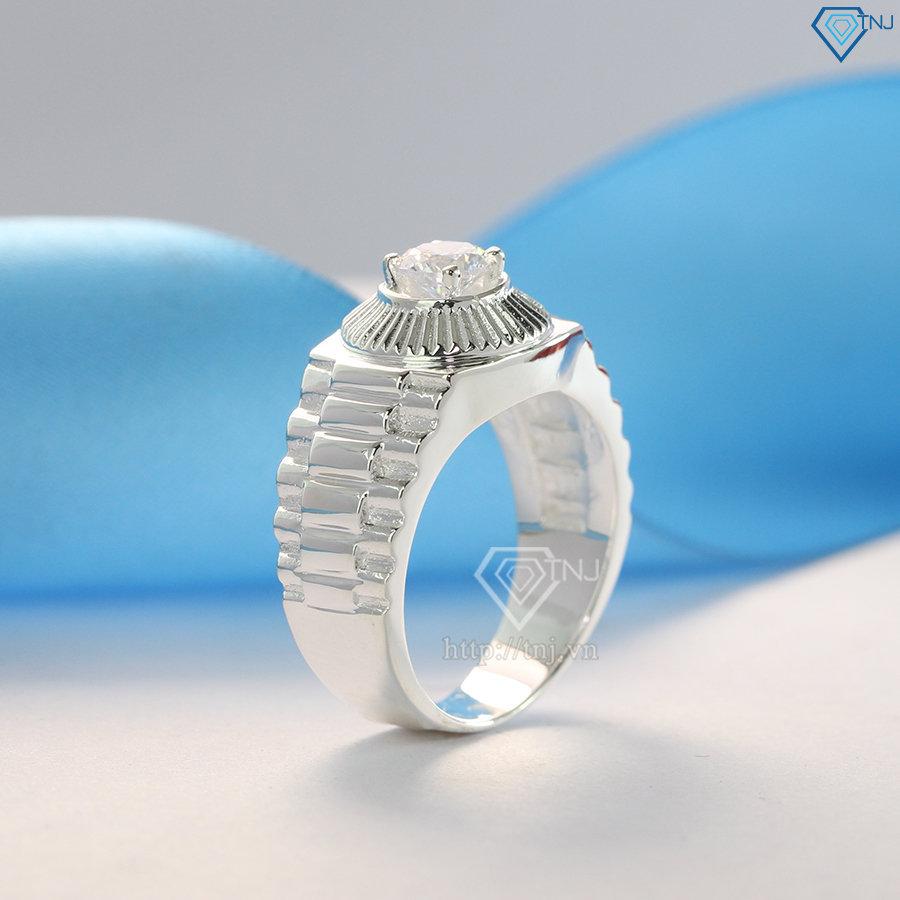 Nhẫn bạc nam dây đồng hồ đẹp NNA0099