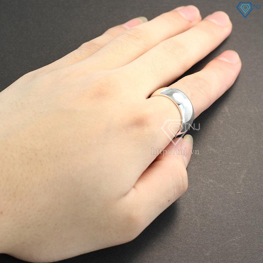 Nhẫn bạc nam trơn cá tính mạnh mẽ NNA0106