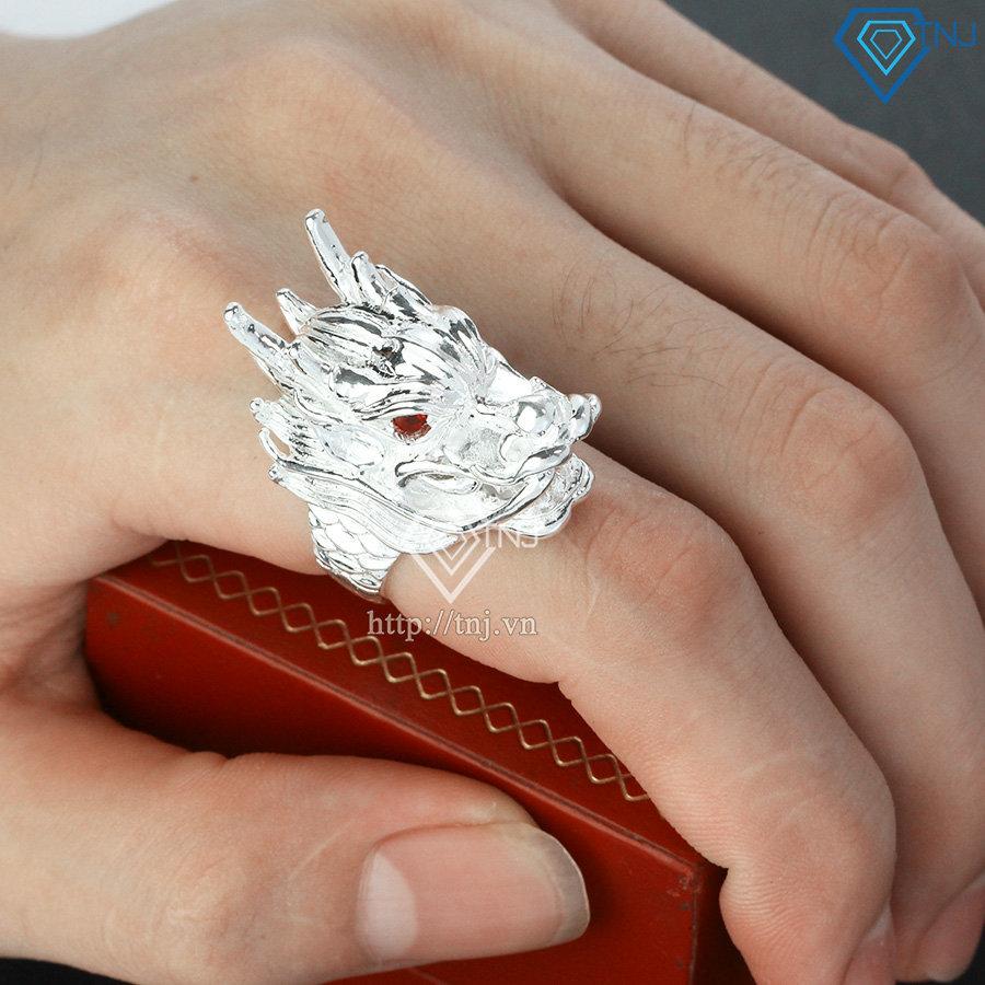 Nhẫn bạc nam đầu rồng NNA0121