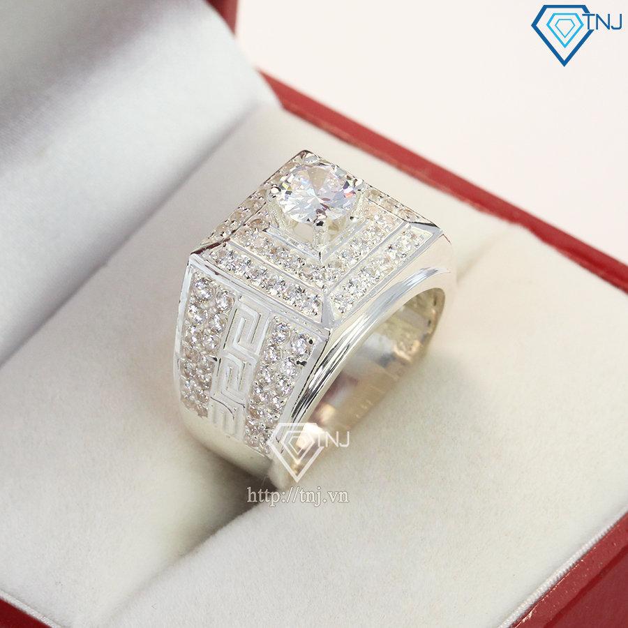 Nhẫn bạc nam mặt đá phong thủy NNA0128