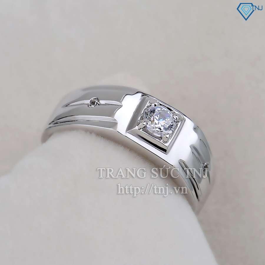 nhẫn bạc nam đẹp đính đá sang trọng  NNA0031
