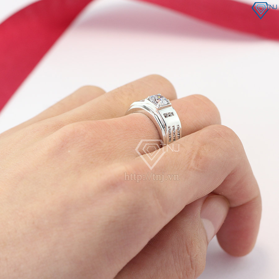 nhẫn bạc nam đẹp mặt đá giá rẻ NNA0085