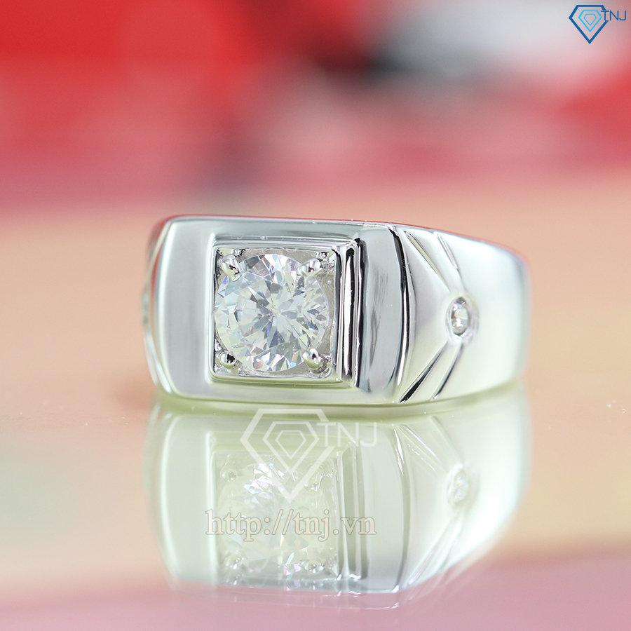 nhẫn bạc nam đẹp đính đá sang trọng NNA0075