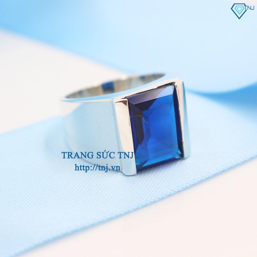 nhẫn bạc nam đẹp mặt đá xanh dương đơn giản nam tính NNA0061nhẫn bạc nam đẹp mặt đá xanh dương đơn giản nam tính NNA0061