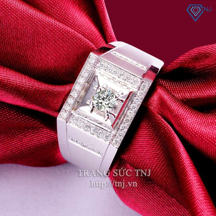 nhẫn bạc nam đẹp tinh tế mạnh mẽ NNA0044