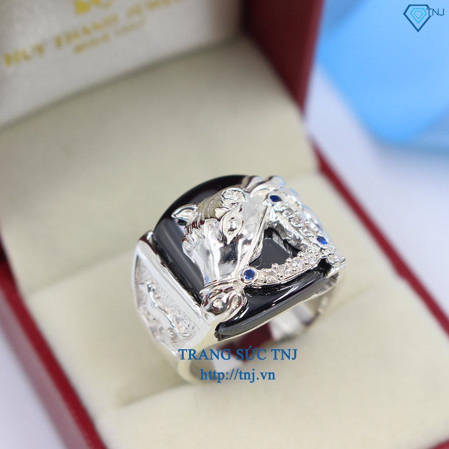 nhẫn nam bạc hình ngựa cho người tuổi ngọ NNA0069