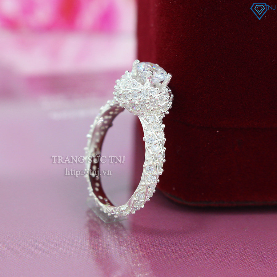 Nhẫn bạc nữ cầu hôn đẹp đính đá Cucbic Zirconia cao cấp NN0086