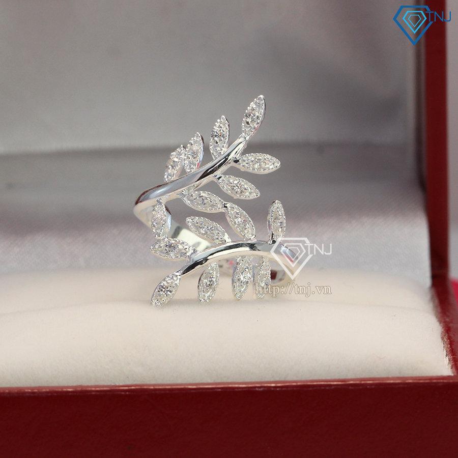 Nhẫn bạc nữ hình lá Nguyệt Quế NN0154