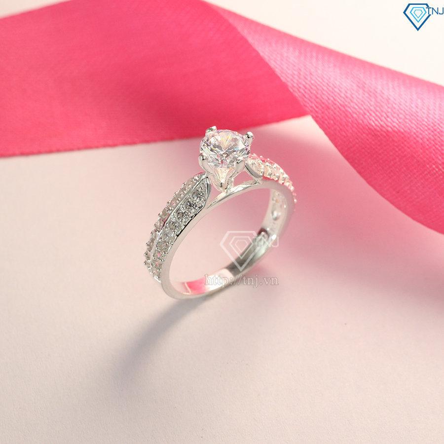 Nhẫn bạc nữ đính đá đẹp cao cấp NN0165