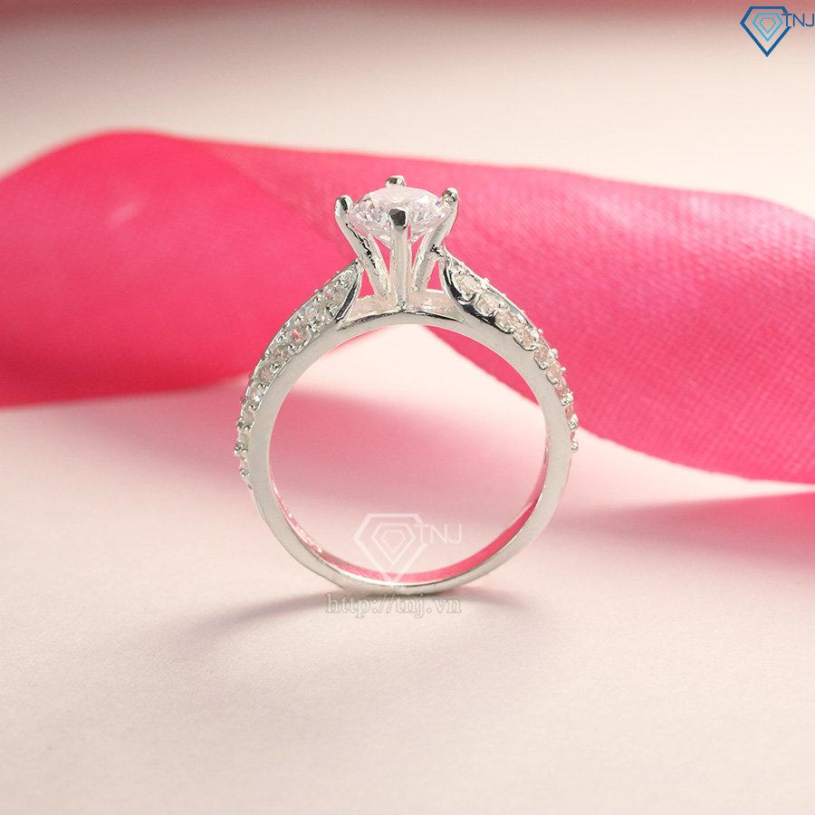 Nhẫn bạc nữ đẹp đính đá cao cấp NN0165