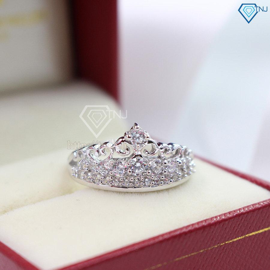 Nhẫn bạc nữ hình vương miện đẹp NN0177