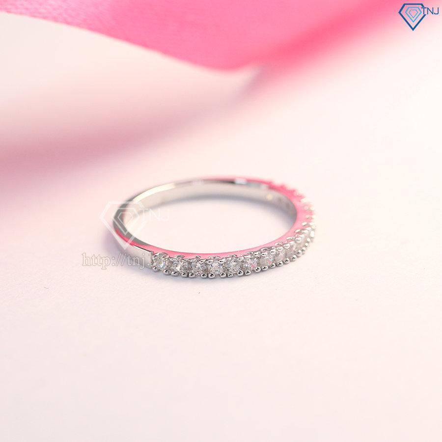 Nhẫn bạc nữ bản nhỏ đẹp giá rẻ NN0185
